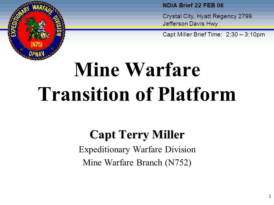 Mine Warfare Transition of Platform