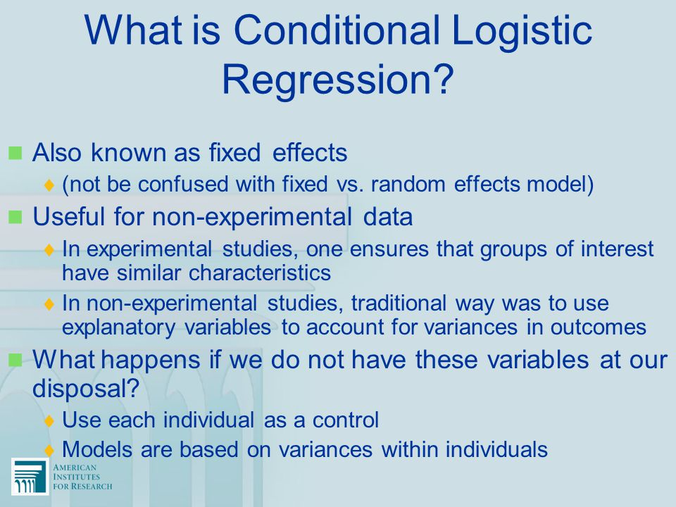 What is Conditional Logistic Regression