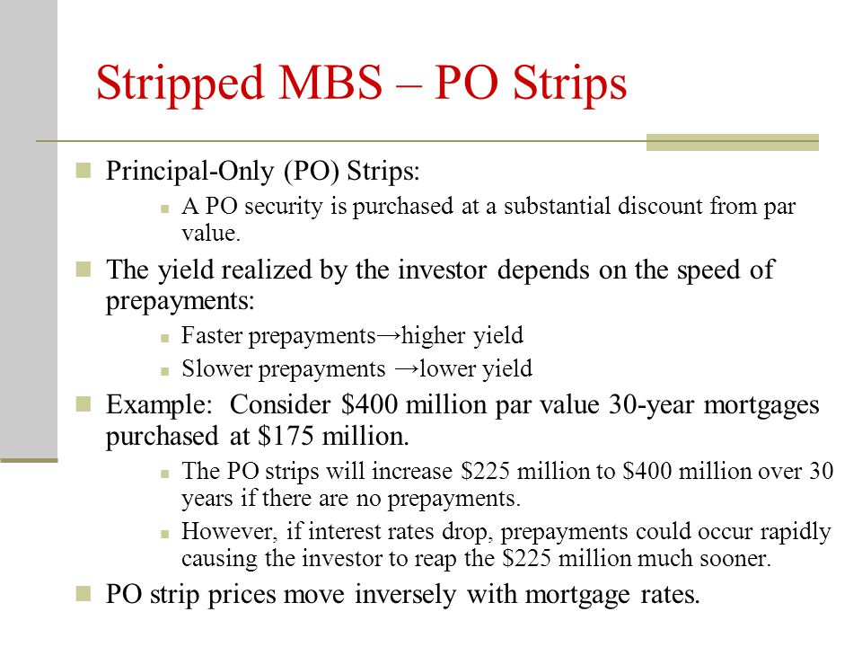 Stripped MBS – PO Strips