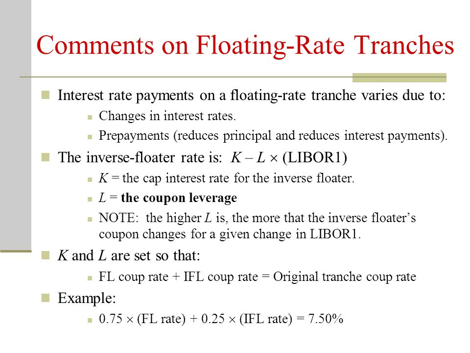 Comments on Floating-Rate Tranches