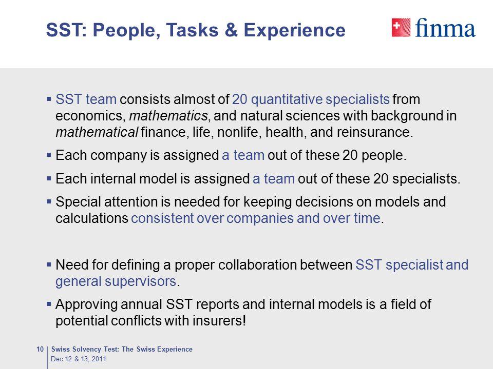 SST: People, Tasks & Experience