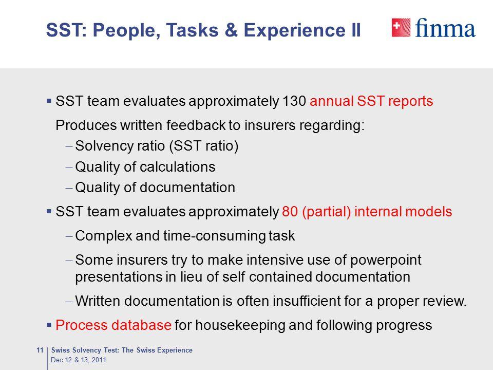 SST: People, Tasks & Experience II
