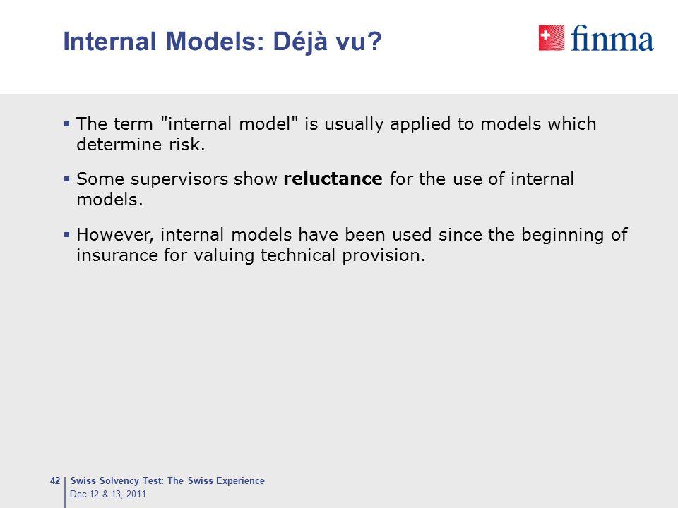 Internal Models: Déjà vu