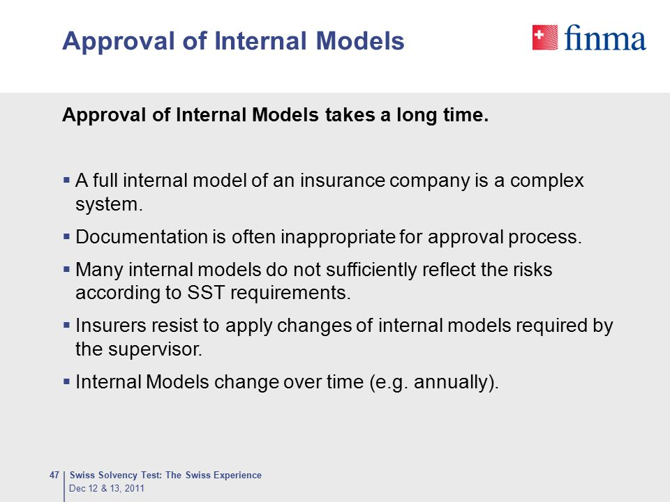 Approval of Internal Models