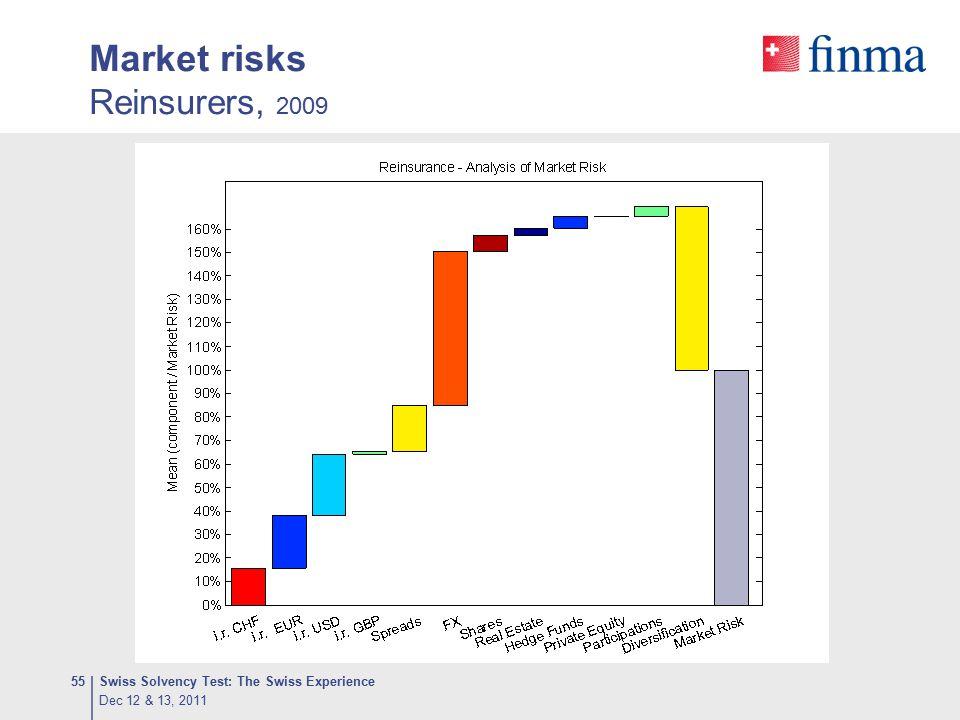 Market risks Reinsurers, 2009