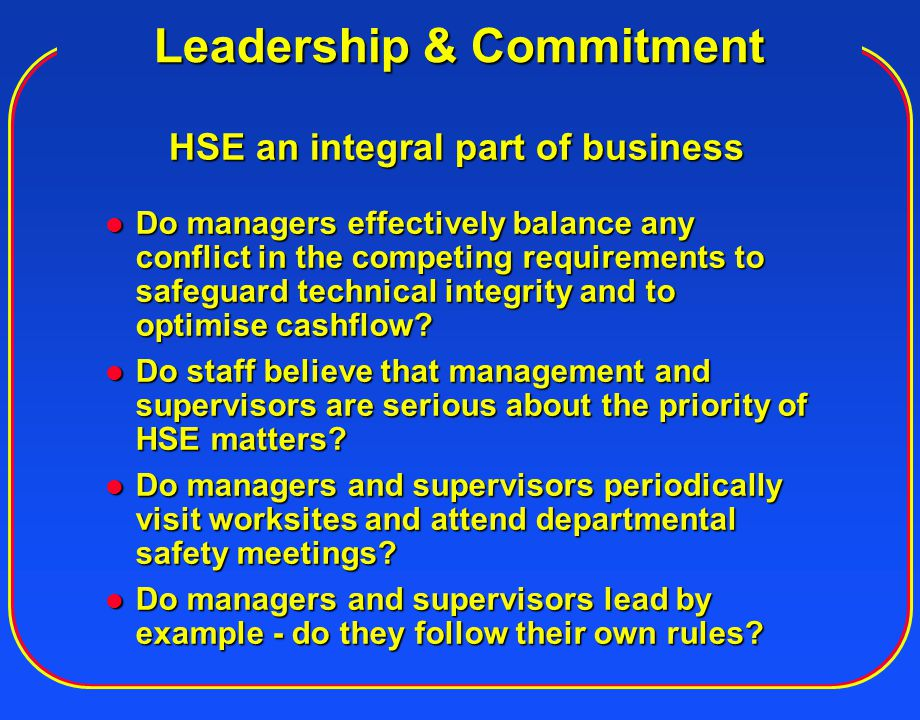 Leadership & Commitment