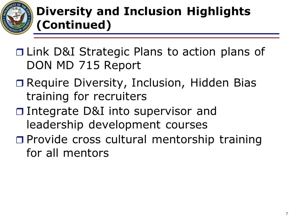 Diversity and Inclusion Highlights (Continued)