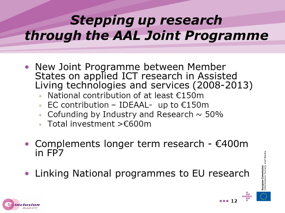 Stepping up research through the AAL Joint Programme