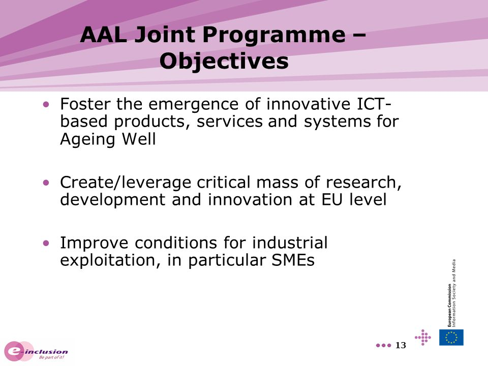 AAL Joint Programme – Objectives