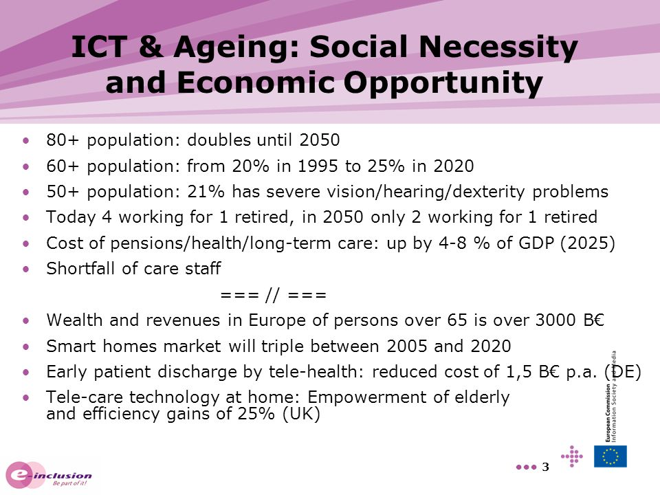 ICT & Ageing: Social Necessity and Economic Opportunity