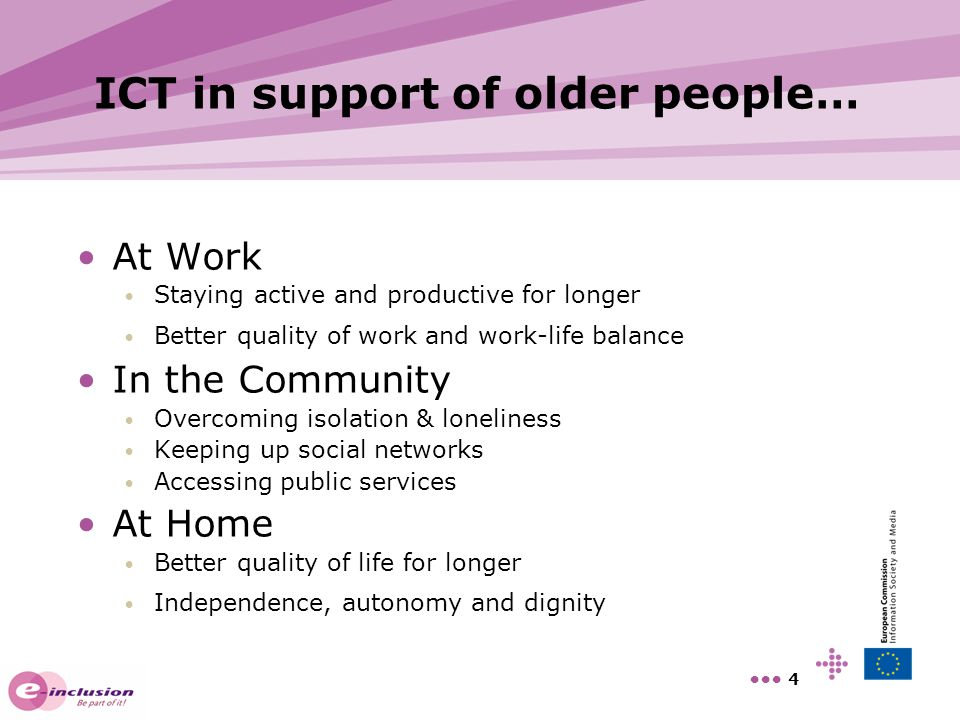 ICT in support of older people…