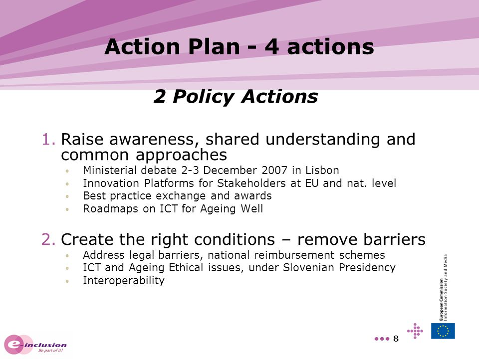 Action Plan - 4 actions 2 Policy Actions
