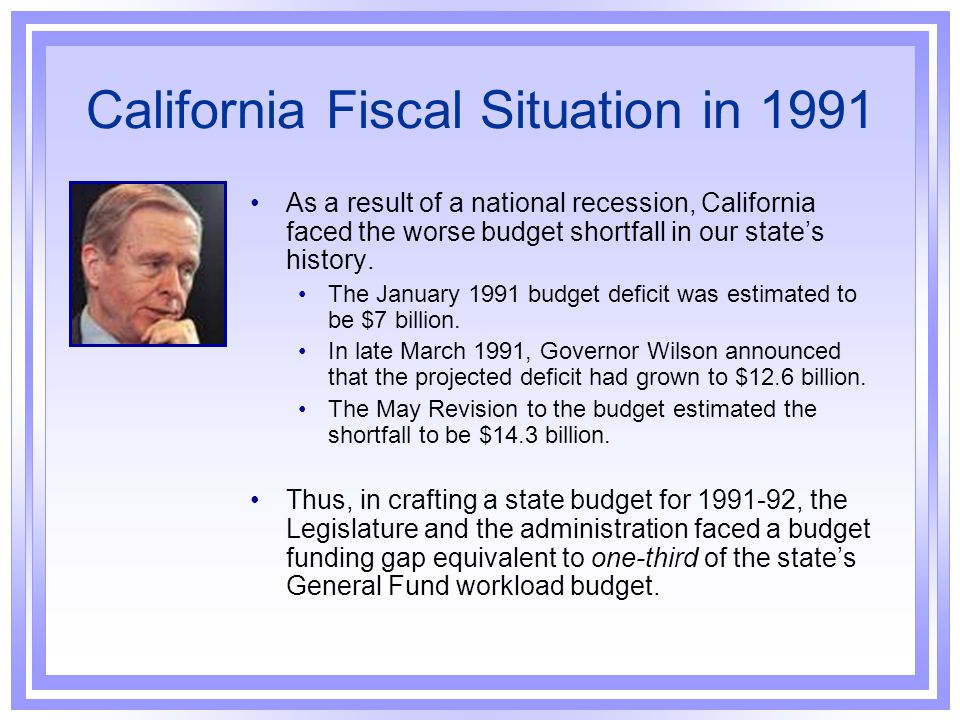 California Fiscal Situation in 1991