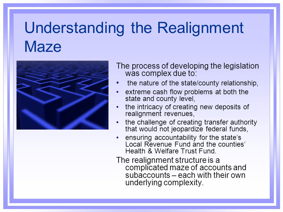 Understanding the Realignment Maze