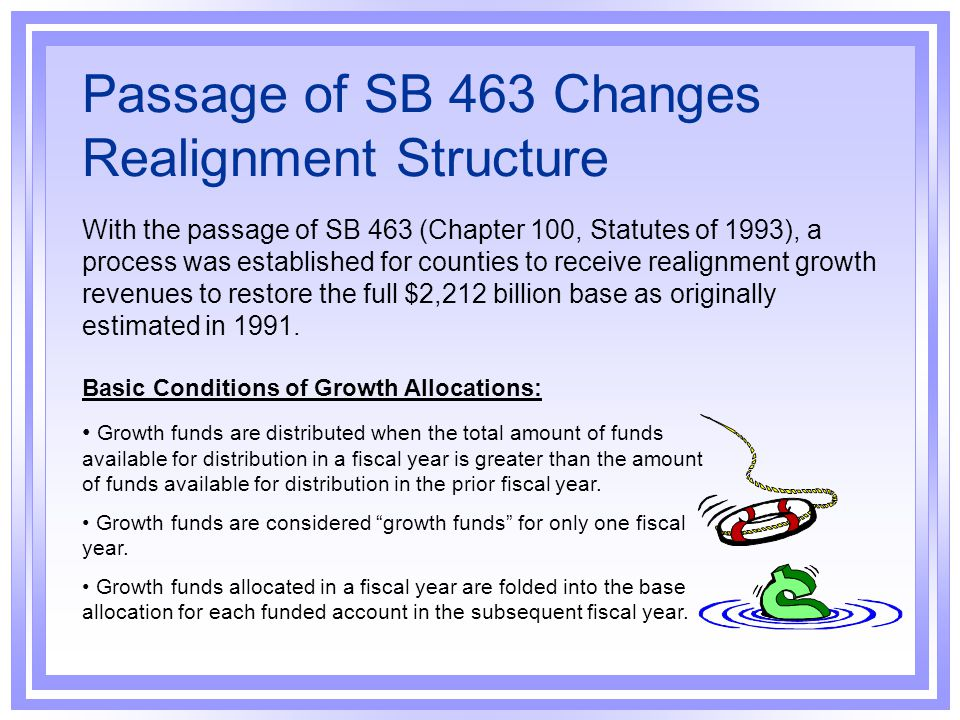 Passage of SB 463 Changes Realignment Structure