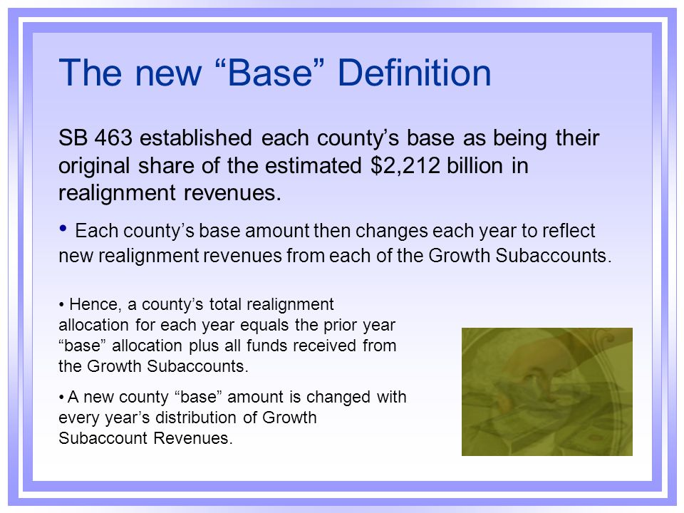 The new Base Definition