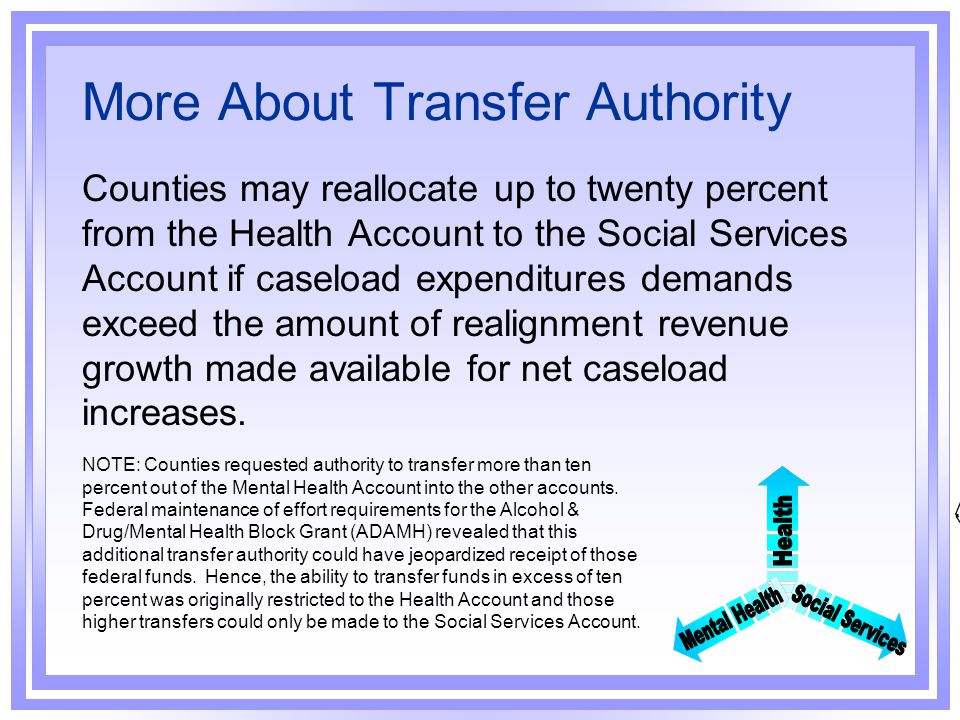 More About Transfer Authority