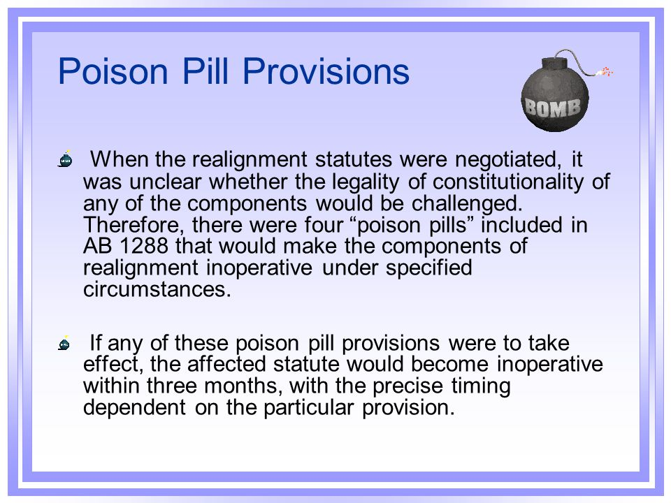 Poison Pill Provisions