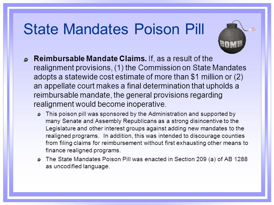 State Mandates Poison Pill