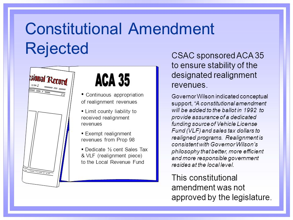 Constitutional Amendment Rejected