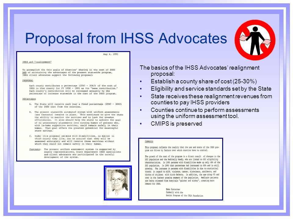 Proposal from IHSS Advocates