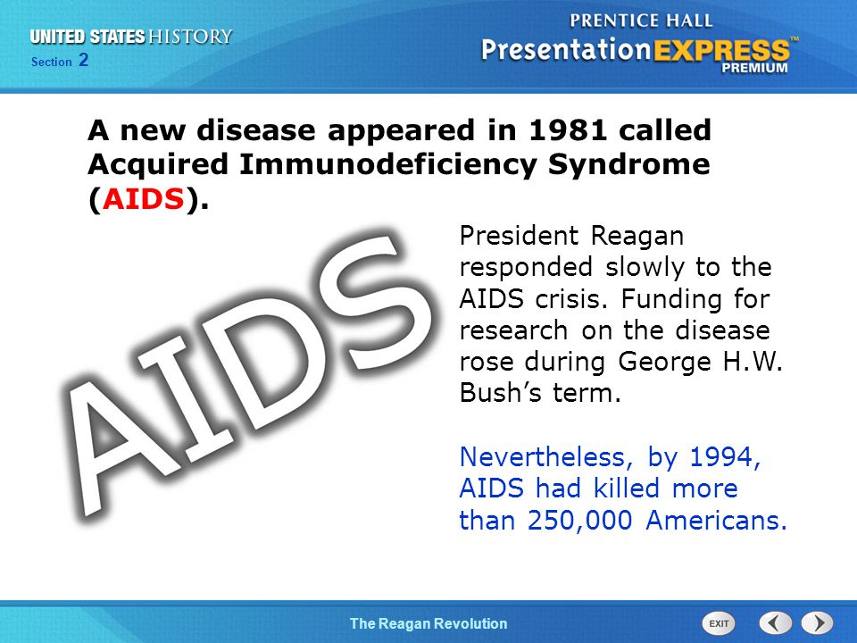 A new disease appeared in 1981 called Acquired Immunodeficiency Syndrome (AIDS).