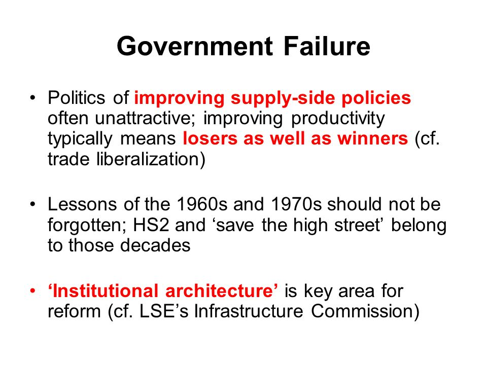 Government Failure