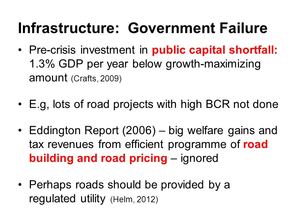 Infrastructure: Government Failure