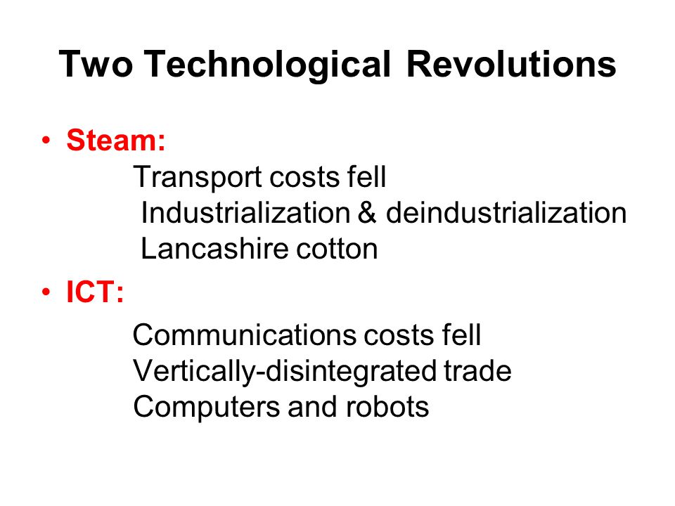Two Technological Revolutions