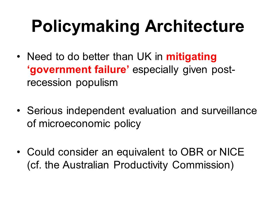 Policymaking Architecture
