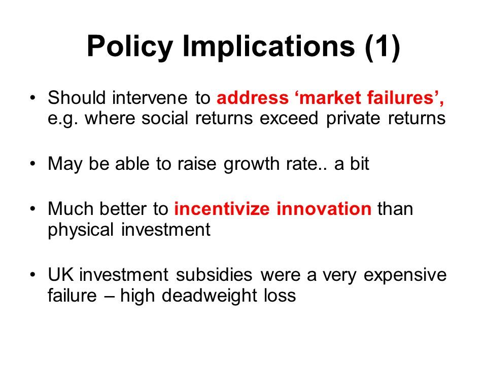 Policy Implications (1)