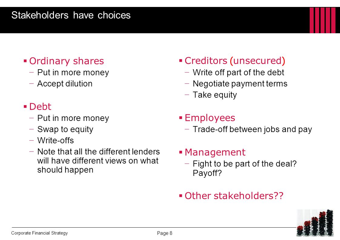 Stakeholders have choices