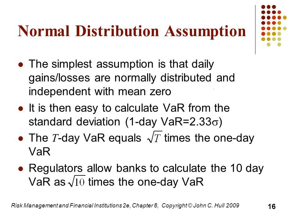 Normal Distribution Assumption