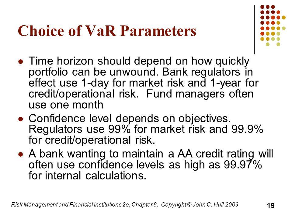 Choice of VaR Parameters
