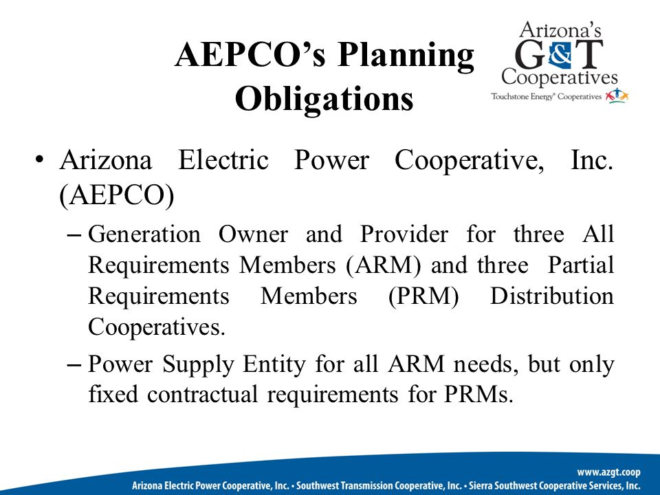 AEPCO's Planning Obligations