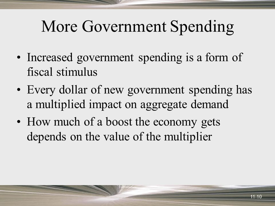 More Government Spending