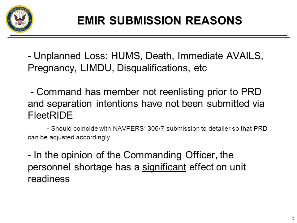 EMIR SUBMISSION REASONS