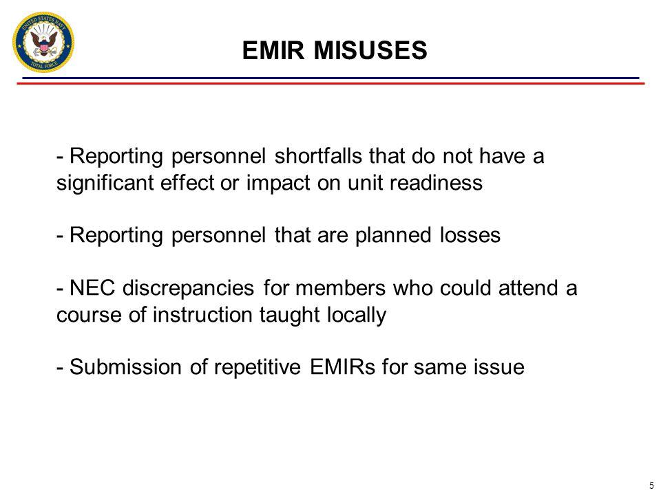 EMIR MISUSES