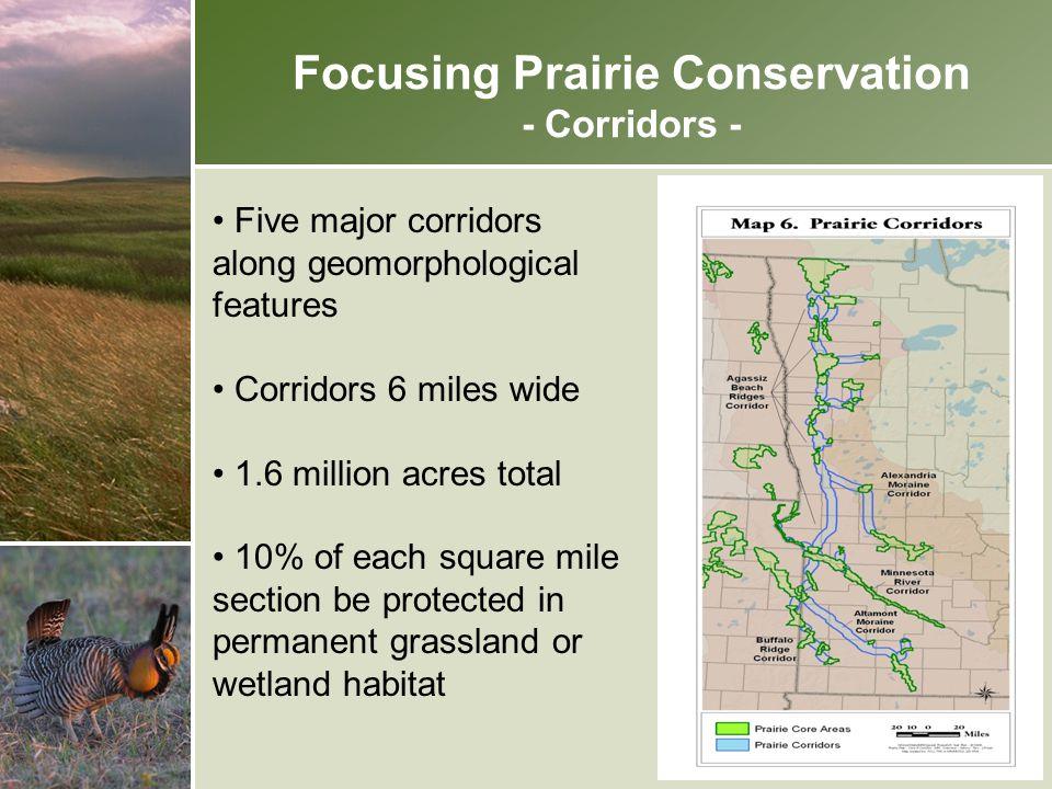Focusing Prairie Conservation - Corridors -