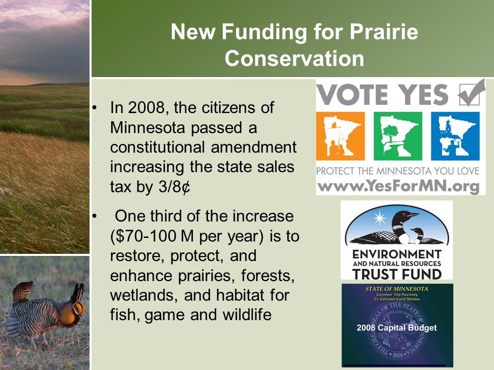 New Funding for Prairie Conservation