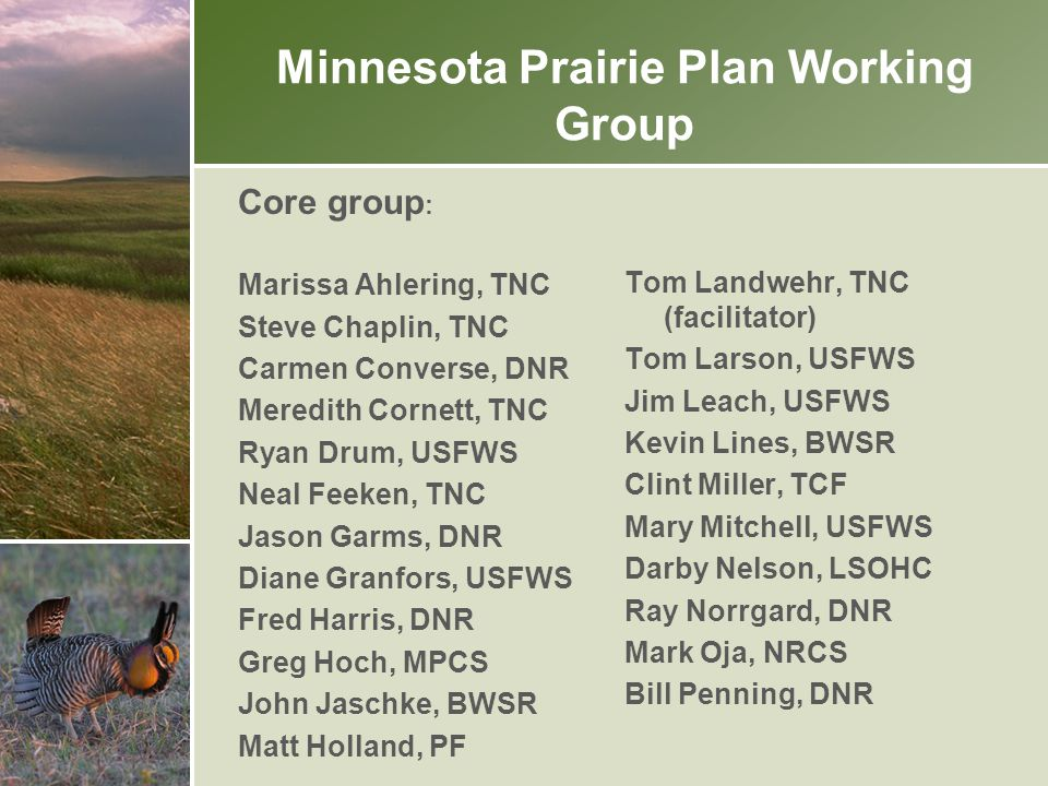 Minnesota Prairie Plan Working Group