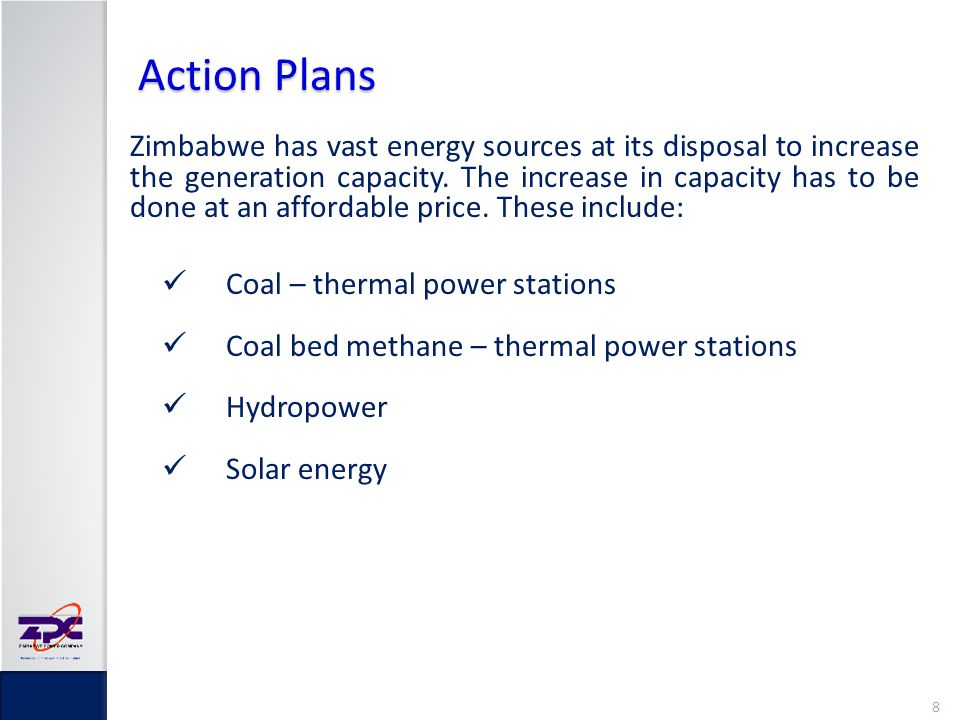 Action Plans Coal – thermal power stations