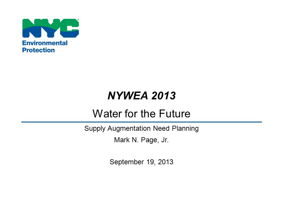 Supply Augmentation Need Planning