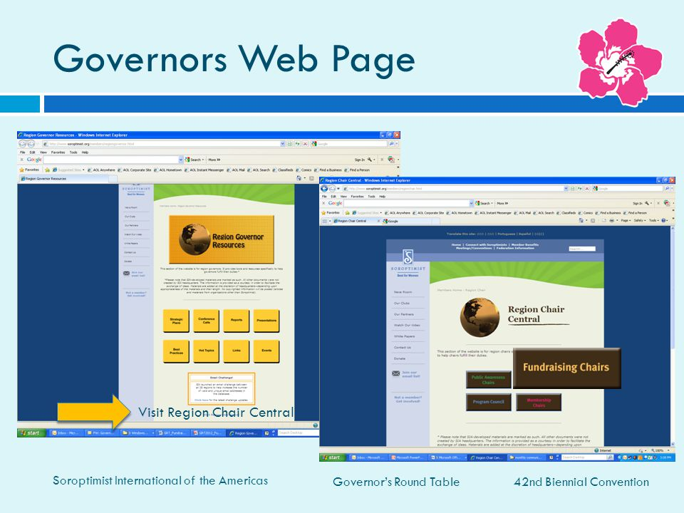Governors Web Page Visit Region Chair Central 42nd Biennial Convention
