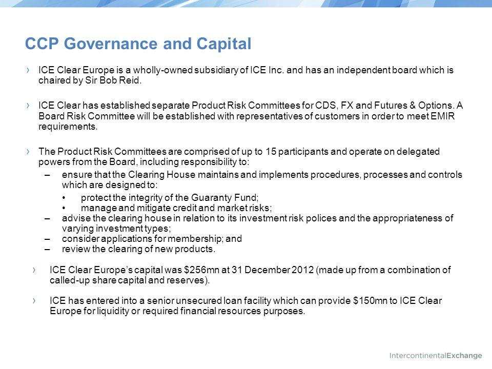 CCP Governance and Capital