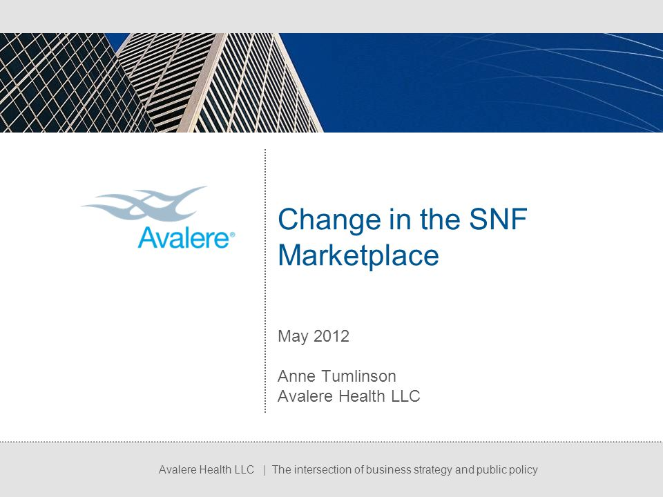 Change in the SNF Marketplace