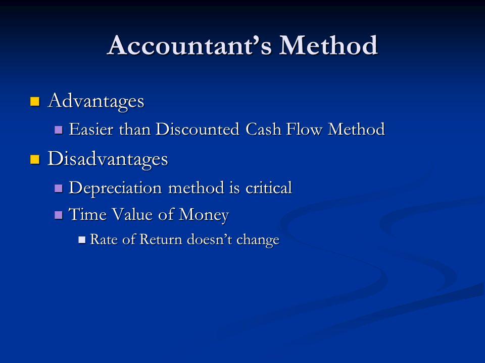 Accountant's Method Advantages Disadvantages