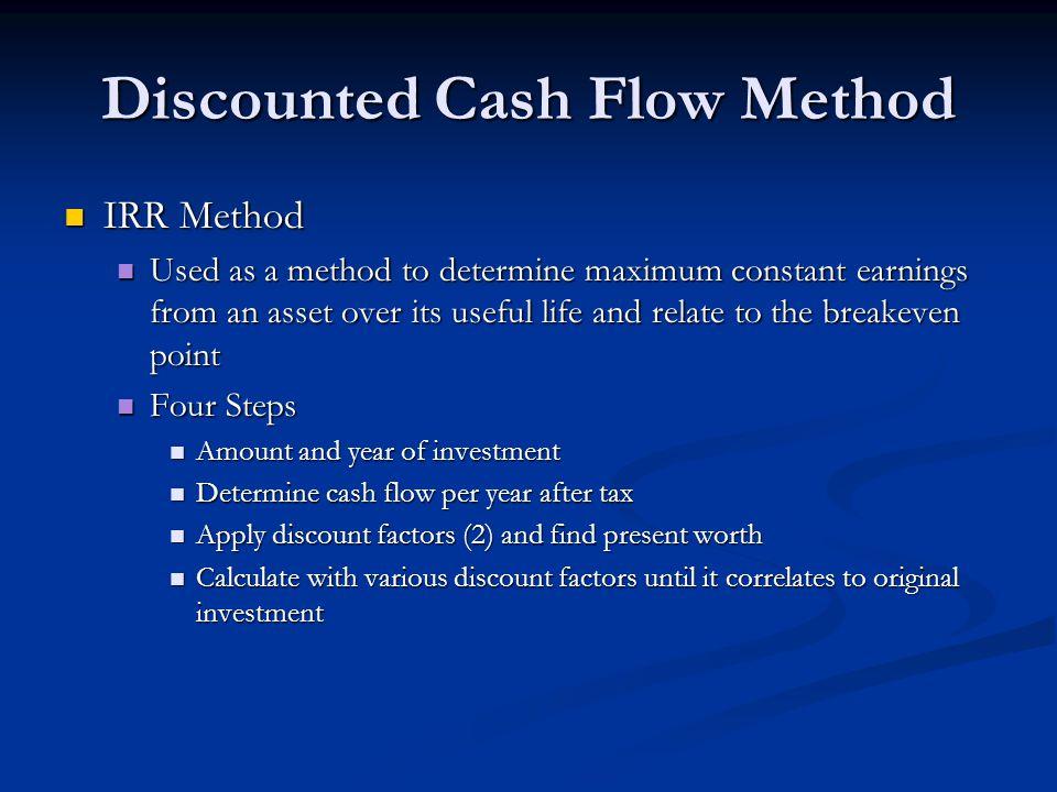 Discounted Cash Flow Method