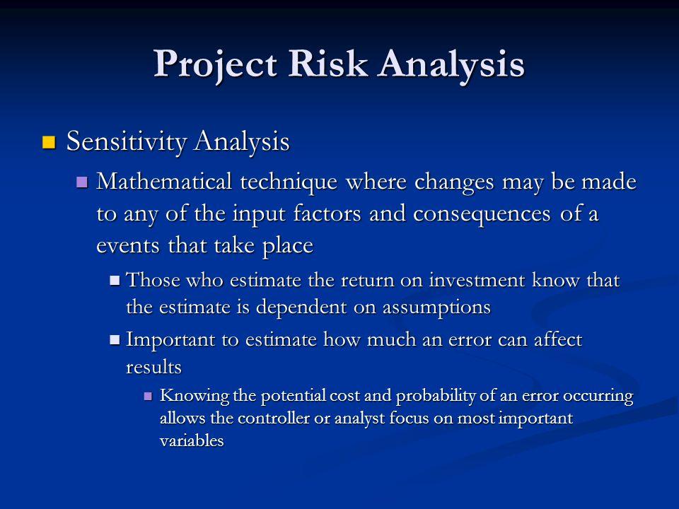 Project Risk Analysis Sensitivity Analysis
