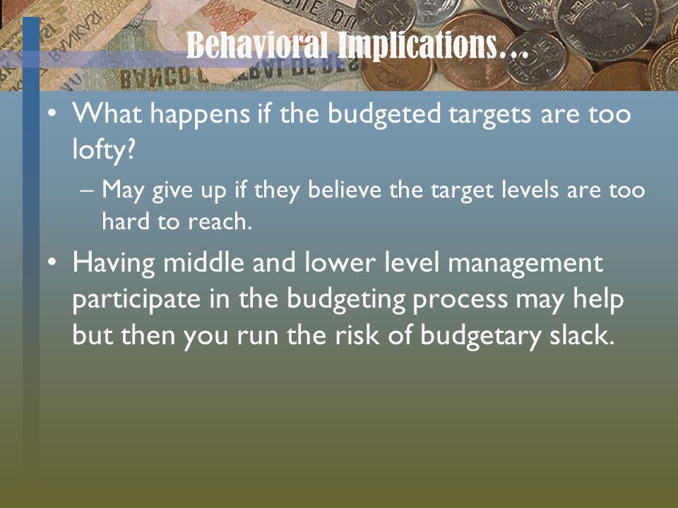 Behavioral Implications…
